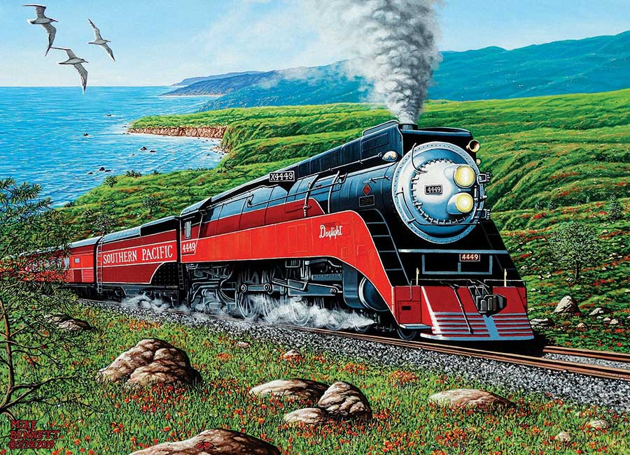Southern Pacific Trains Jigsaw Puzzle