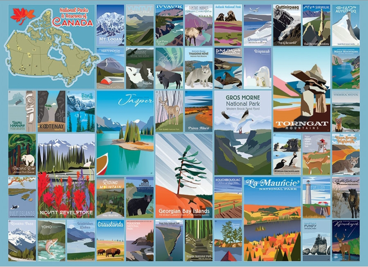 National Parks and Reserves of Canada Canada Jigsaw Puzzle