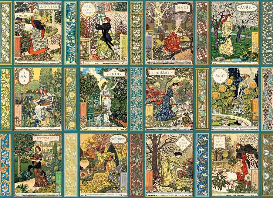 Jardiniere: A Gardener's Calendar Flowers Jigsaw Puzzle