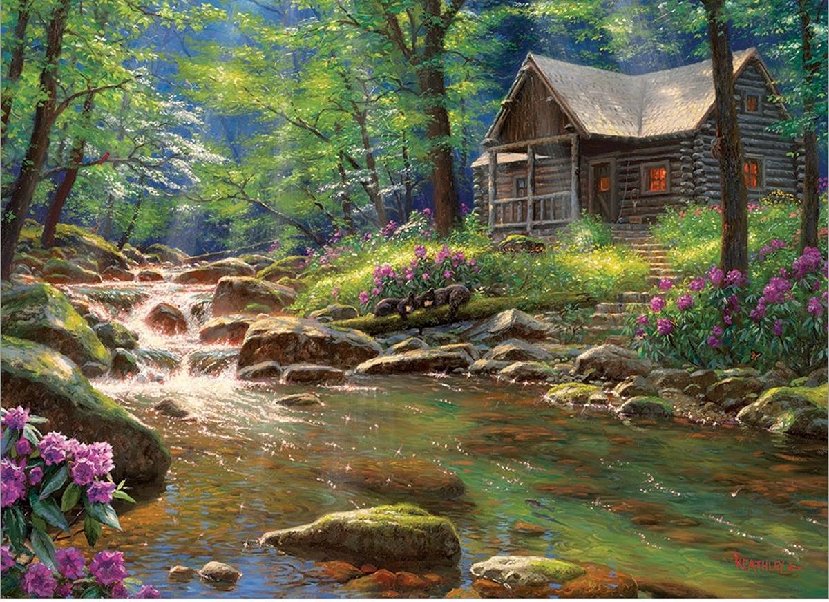 Fishing Cabin Fishing Jigsaw Puzzle