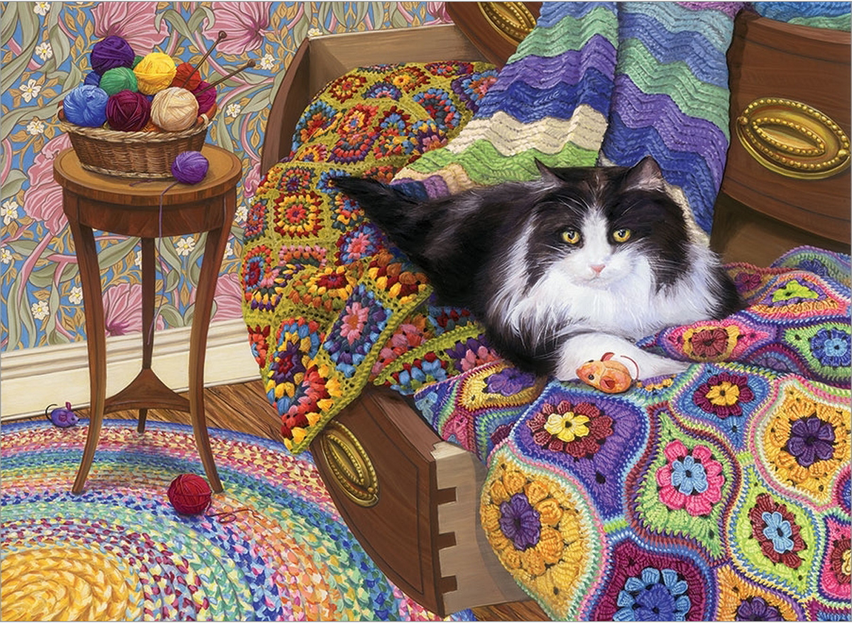 Comfy Cat Animals Jigsaw Puzzle