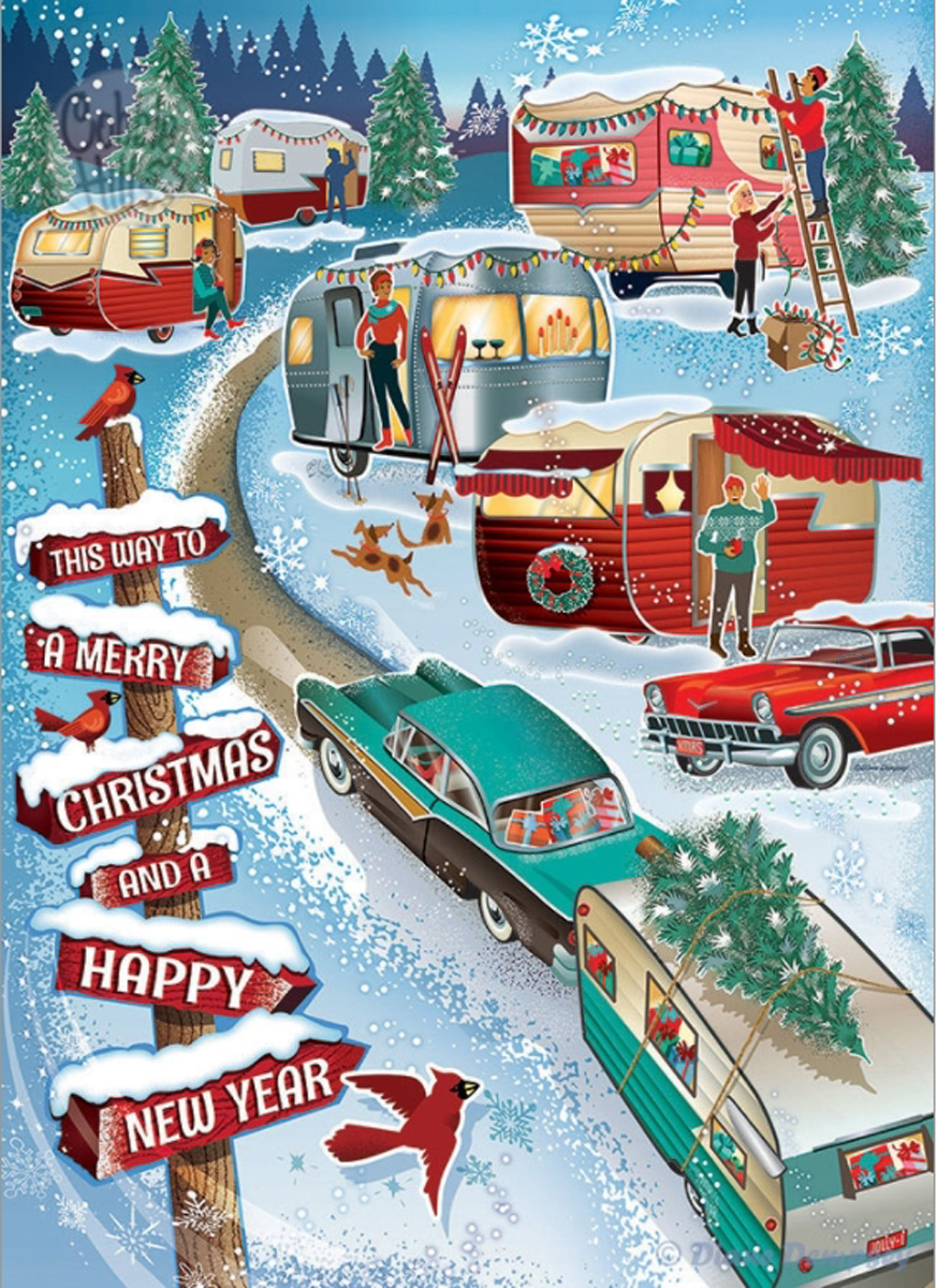 Christmas Campers Travel Jigsaw Puzzle