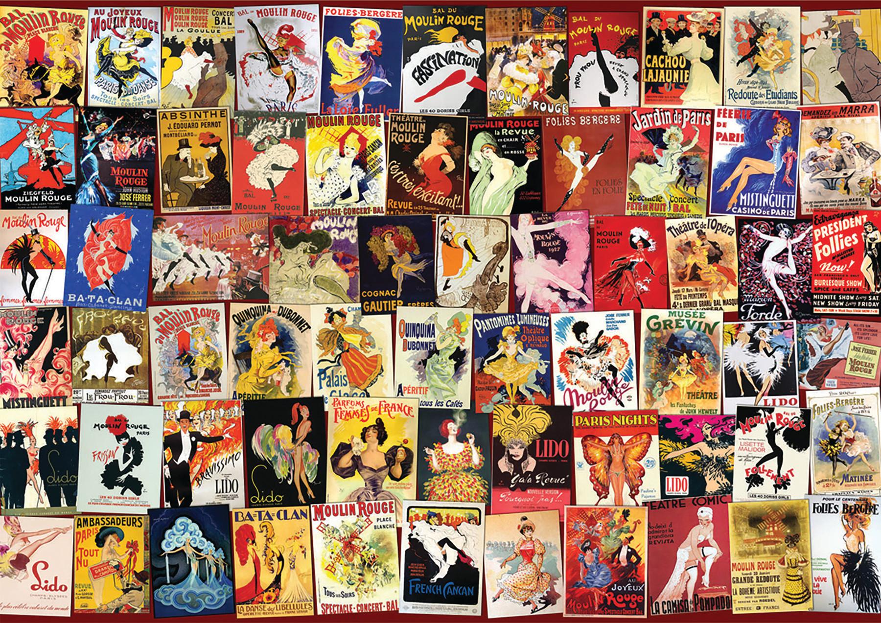 Cabaret Collage Nostalgic / Retro Jigsaw Puzzle