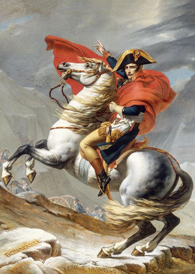 Napoleon Crossing the Alps (David) Fine Art Jigsaw Puzzle