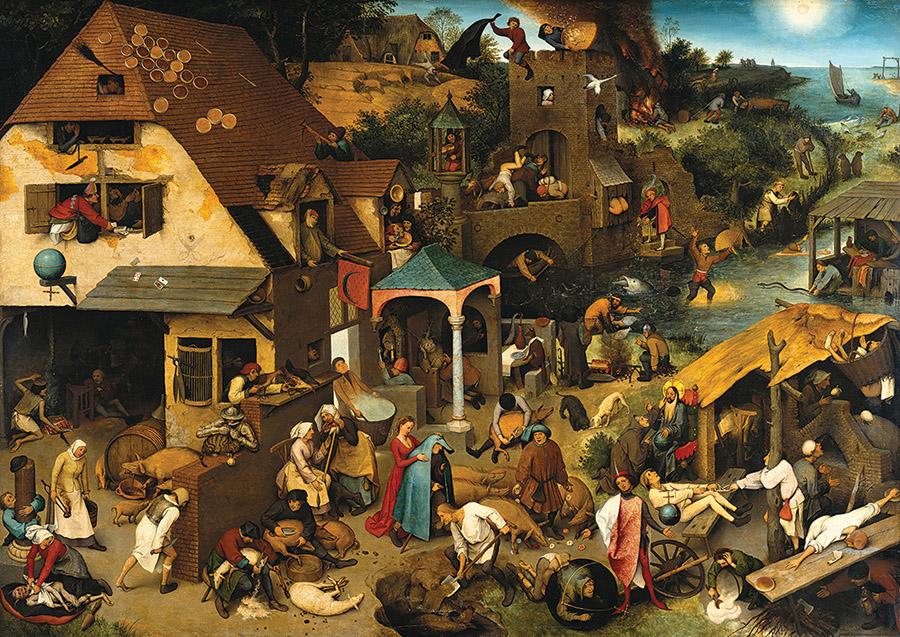 Netherlandish Proverbs Fine Art Jigsaw Puzzle