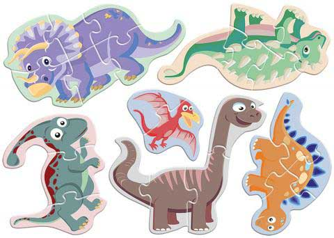 Dinosaurs (baby puzzles) Dinosaurs Shaped Puzzle