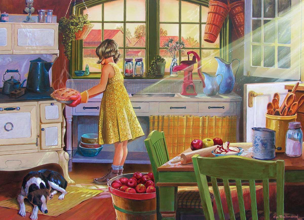 Apple Pie Kitchen Nostalgic / Retro Jigsaw Puzzle