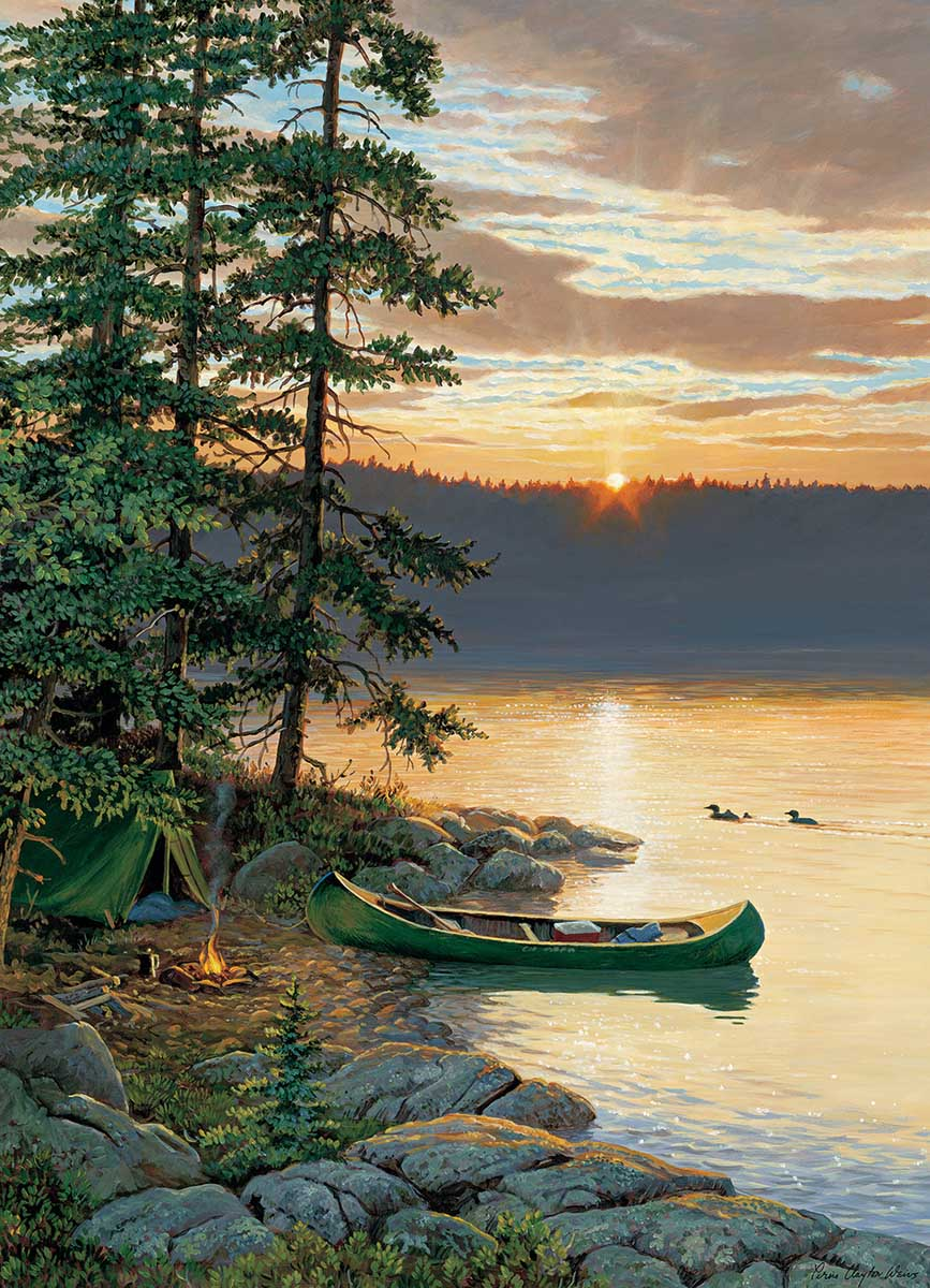 Canoe Lake Beach Jigsaw Puzzle