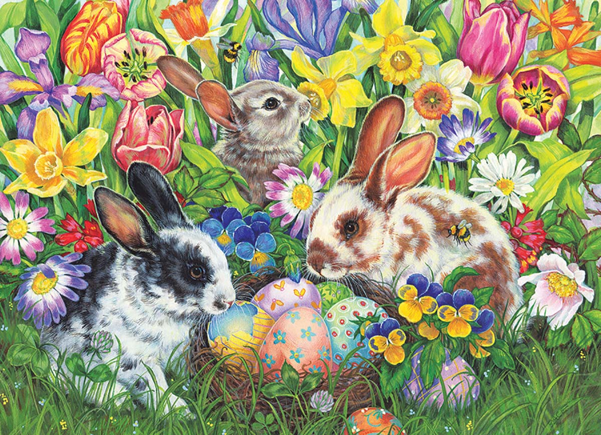 Easter Bunnies Easter Jigsaw Puzzle