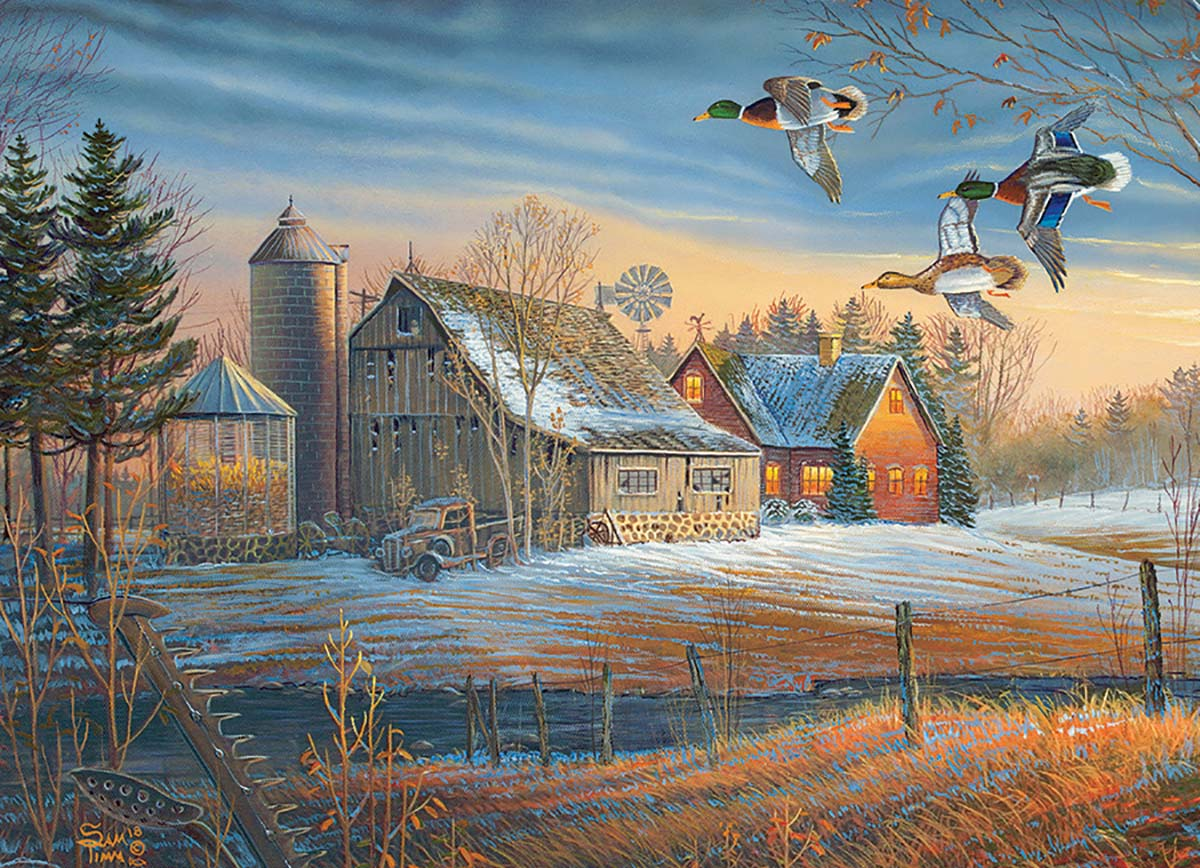 Farmstead Flyby Farm Jigsaw Puzzle
