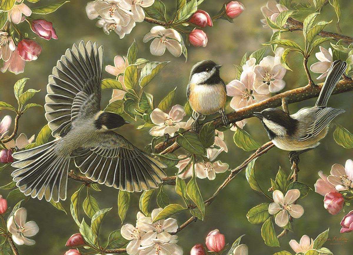 Chickadeedeedees Birds Jigsaw Puzzle