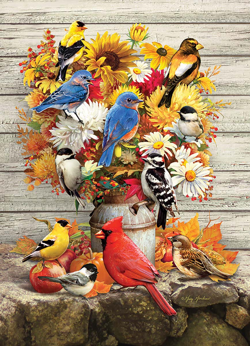 Fall Harvest Birds Jigsaw Puzzle