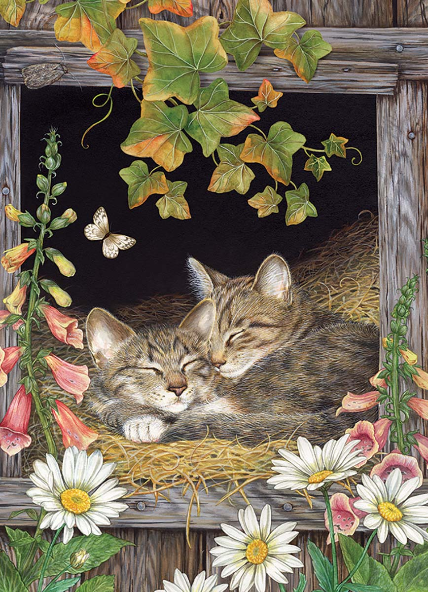 Sisters Cats Jigsaw Puzzle