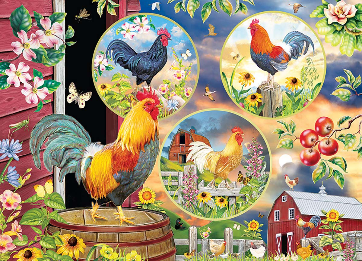 Rooster Magic Chickens & Roosters Jigsaw Puzzle
