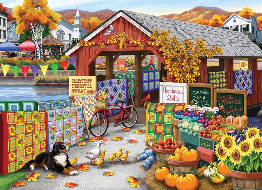 Harvest Festival Dogs Jigsaw Puzzle