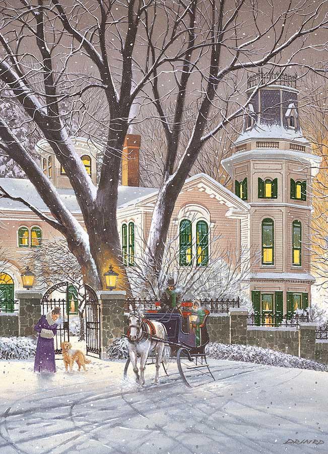 Sleigh Ride Winter Jigsaw Puzzle