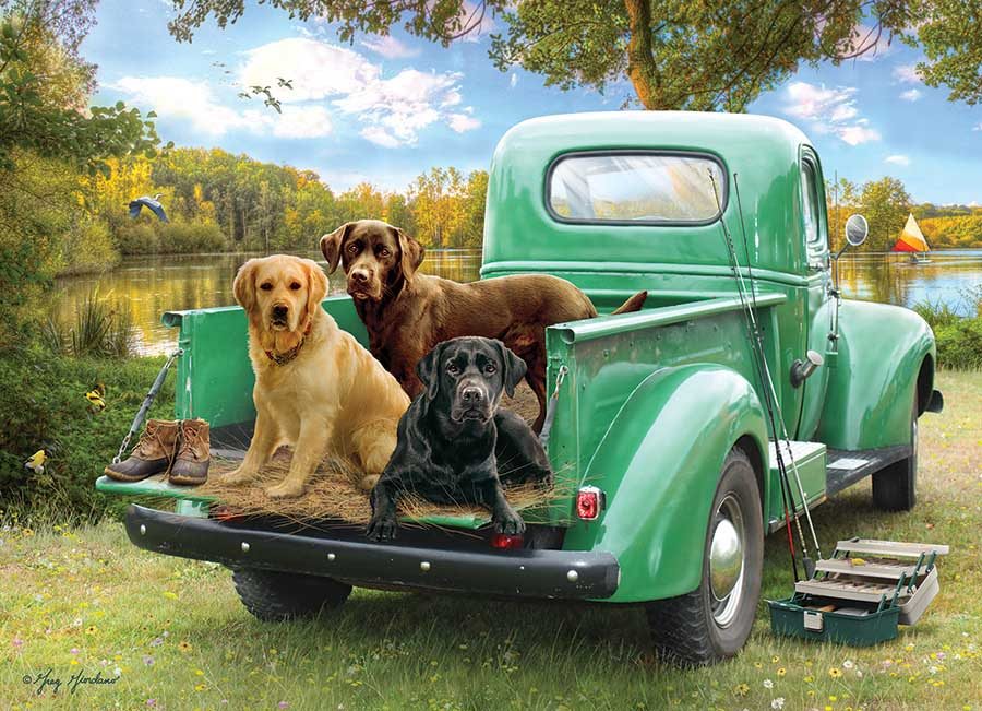 Let's Go Fishing Dogs Jigsaw Puzzle