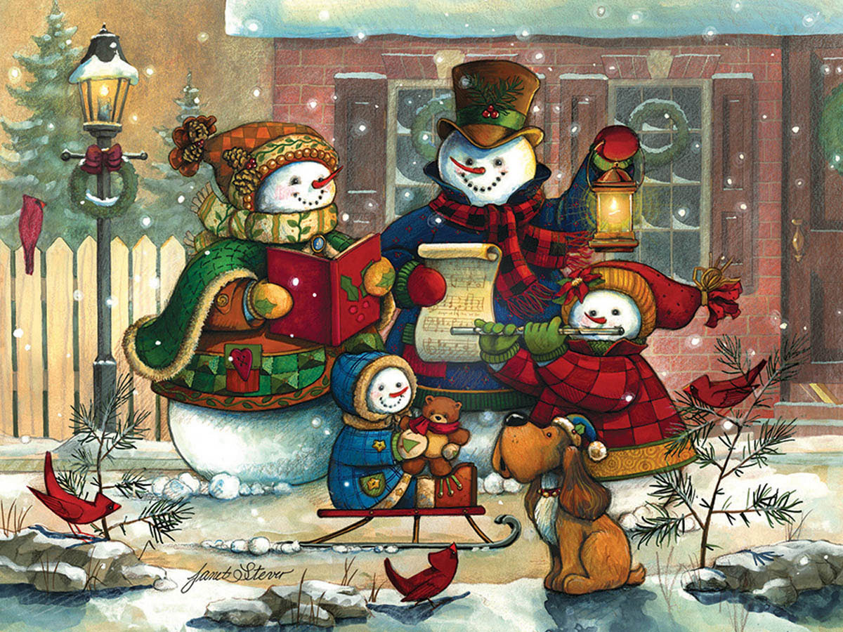 Song for the Season Snowman Jigsaw Puzzle