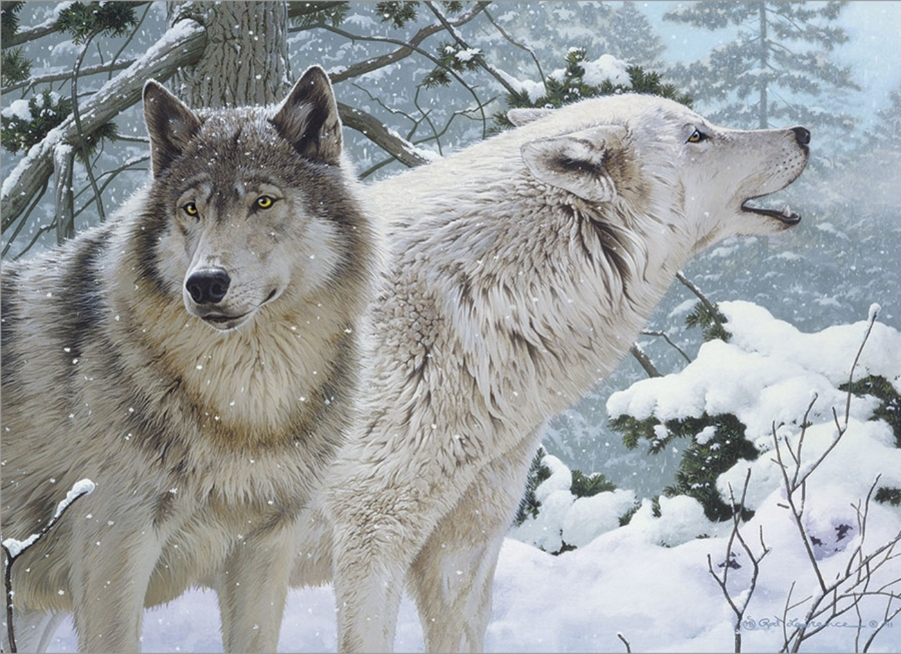 Breath of Winter Wolves Jigsaw Puzzle