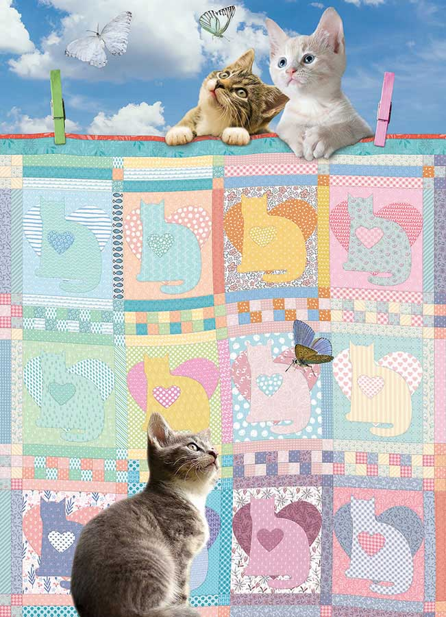Quilted Kittens Cats Jigsaw Puzzle