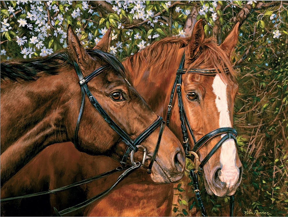Friends Forever Horses Jigsaw Puzzle