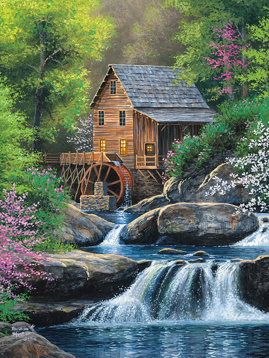 Spring Mill Spring Jigsaw Puzzle