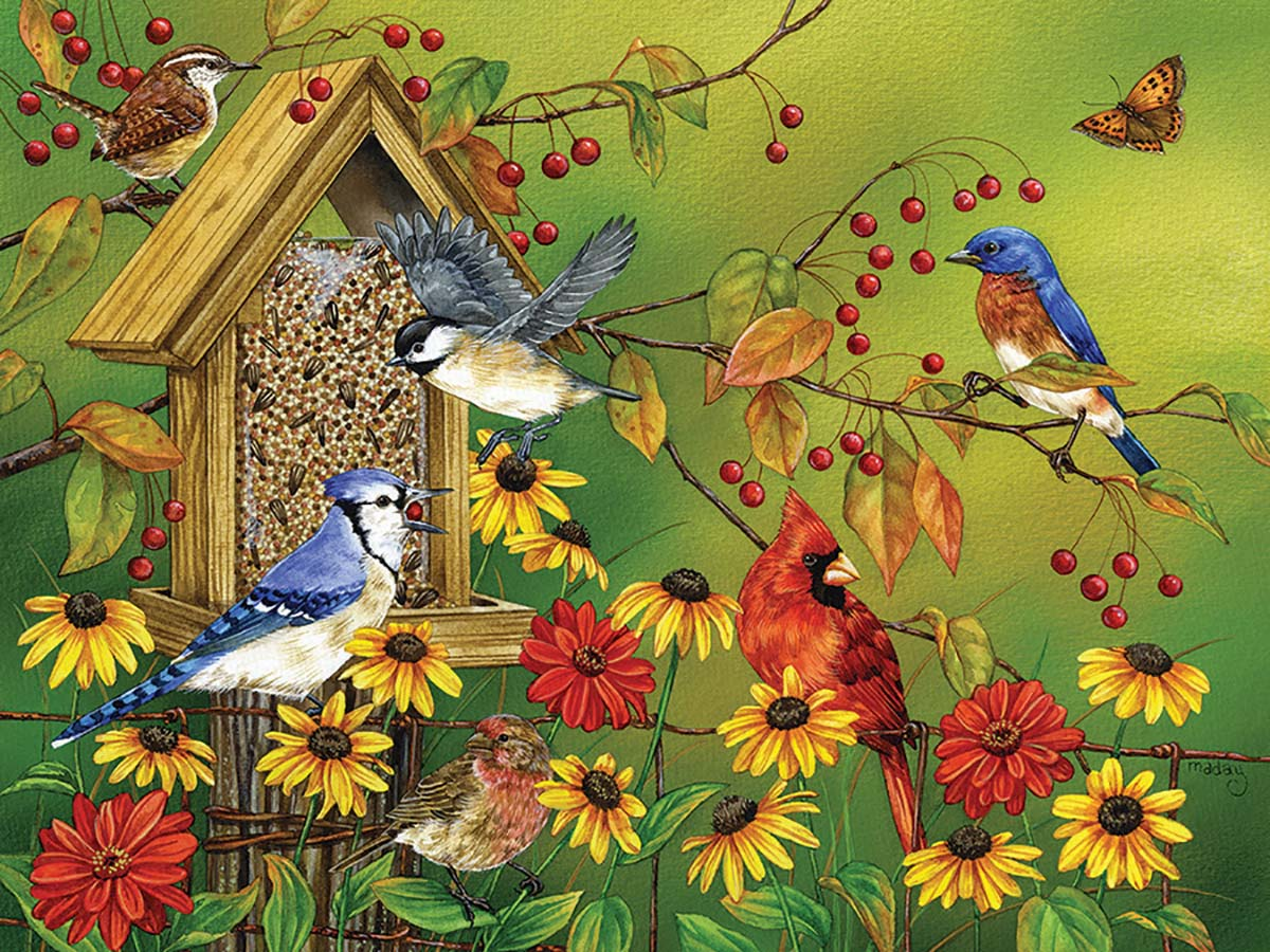 Fall Feast Birds Jigsaw Puzzle