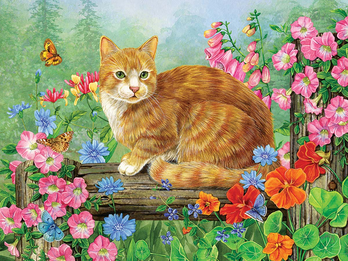 A Perfect Perch Cats Jigsaw Puzzle