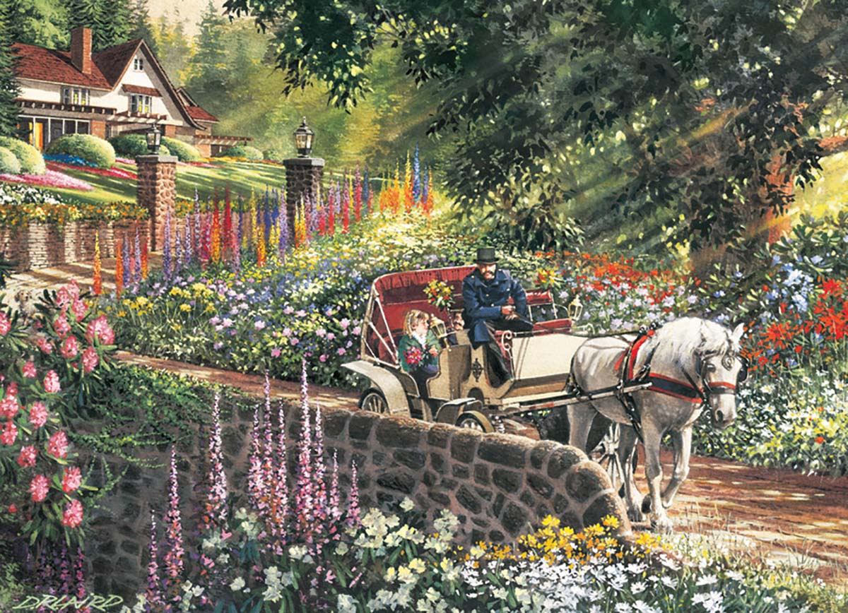 Carriage Ride Garden Jigsaw Puzzle