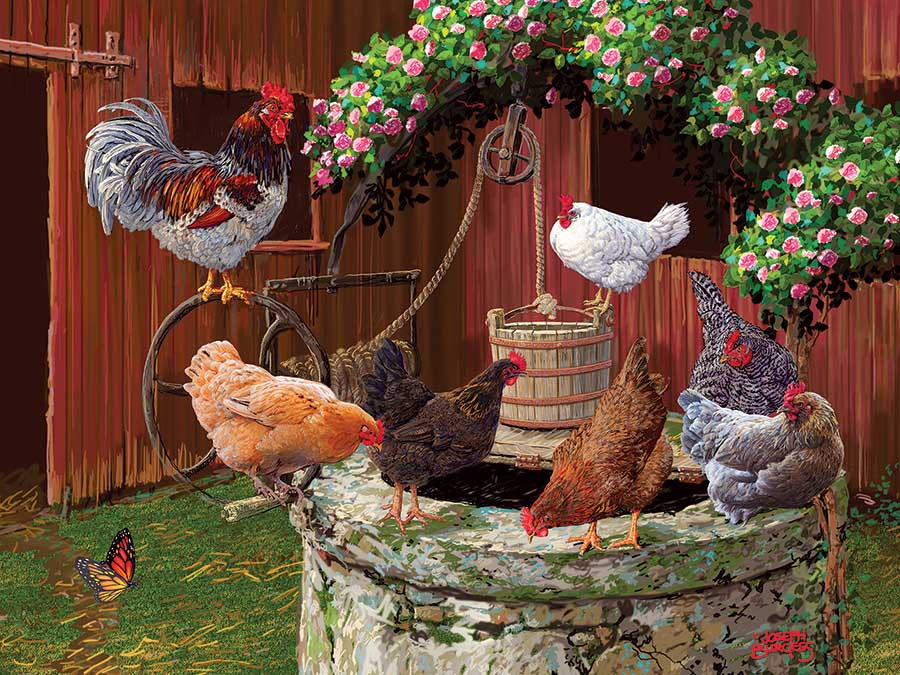 The Chickens are Well Farm Jigsaw Puzzle