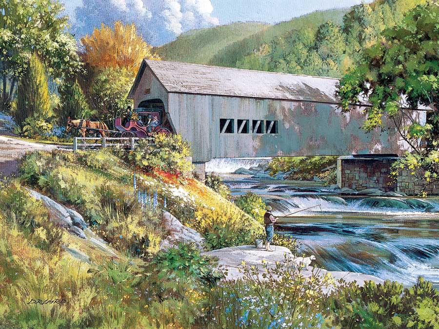Covered Bridge Landscape Jigsaw Puzzle