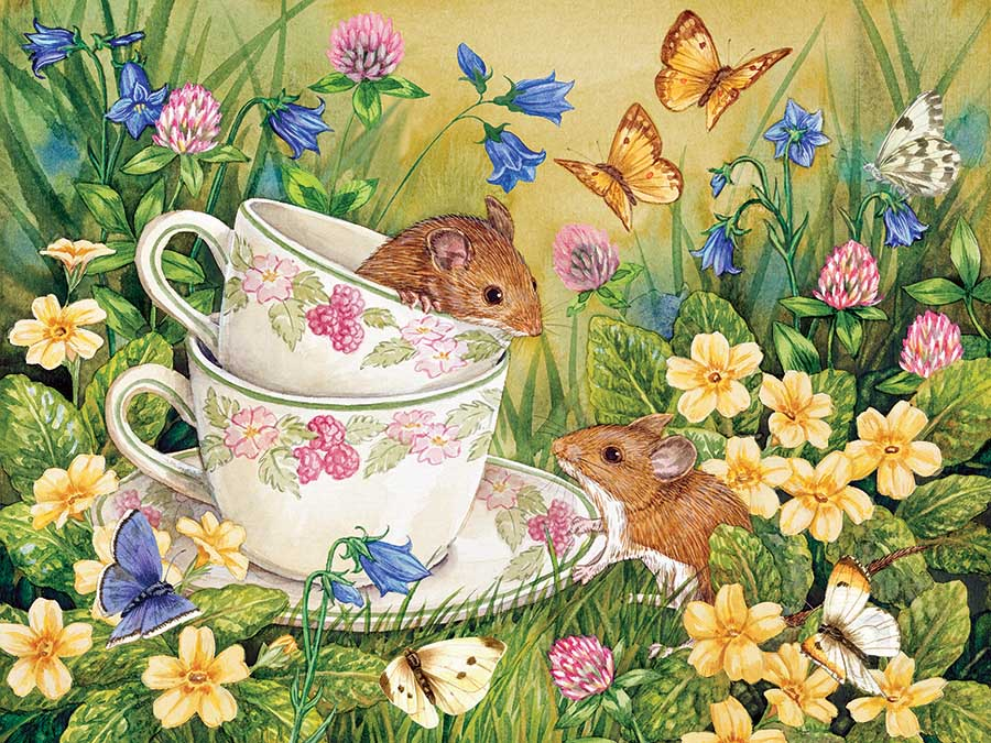 Tea for Two Animals Jigsaw Puzzle