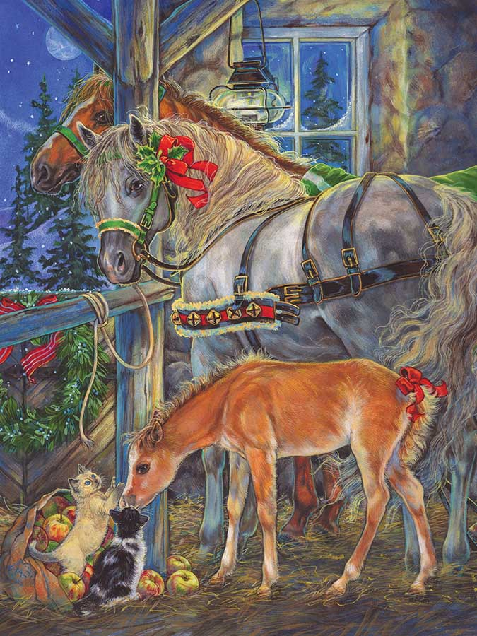 Holiday Horsies Horses Jigsaw Puzzle