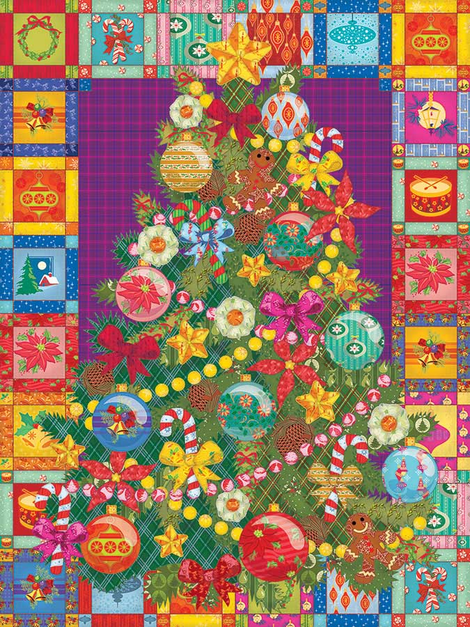 Christmas Tree Quilt - Scratch and Dent Christmas Jigsaw Puzzle
