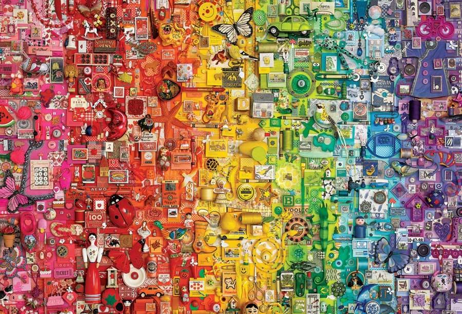 Rainbow Abstract Jigsaw Puzzle