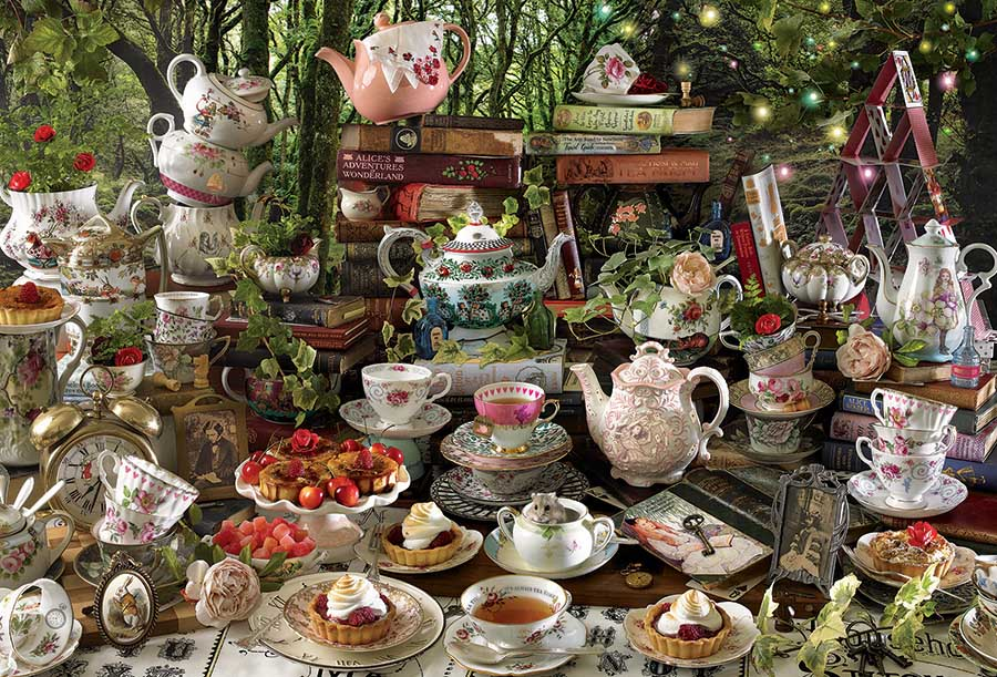 Mad Hatter's Tea Party Movies / Books / TV Jigsaw Puzzle