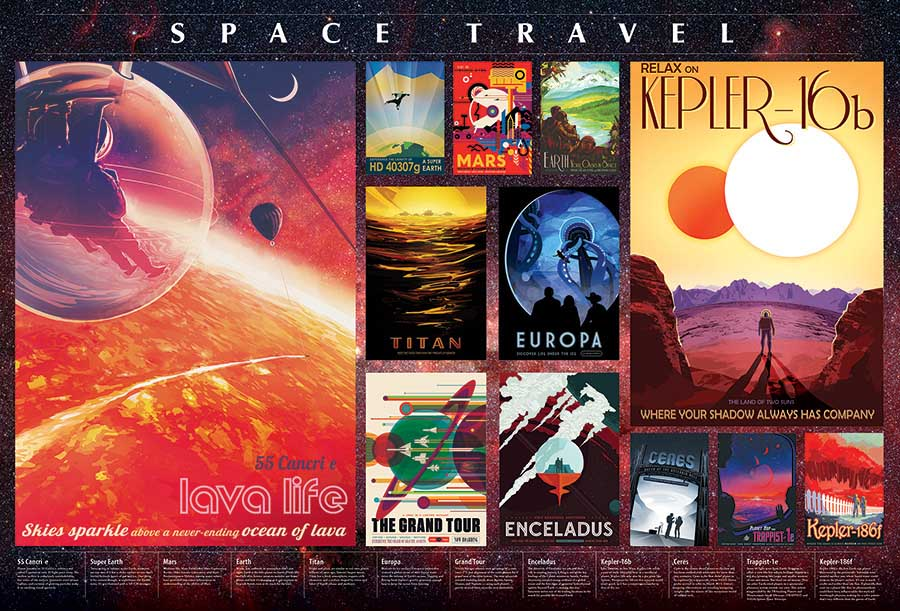 Space Travel Posters Space Jigsaw Puzzle