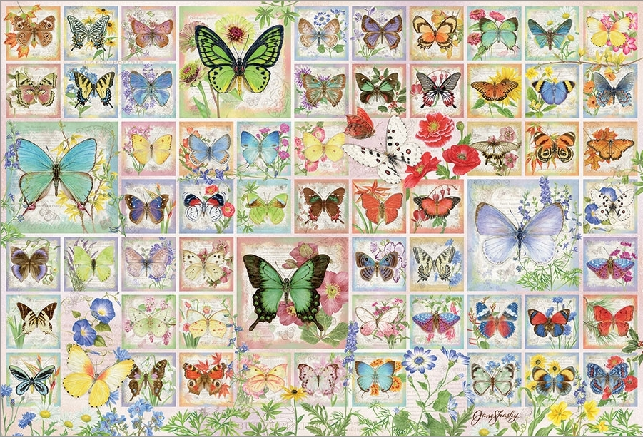 Butterflies and Blossoms Butterflies and Insects Jigsaw Puzzle