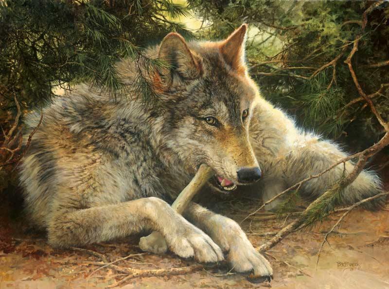 Bon Appetit Wolves Jigsaw Puzzle