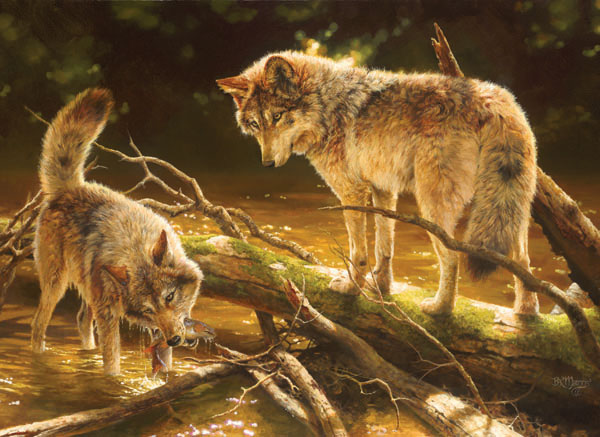 Lucky Catch - Scratch and Dent Wolves Jigsaw Puzzle
