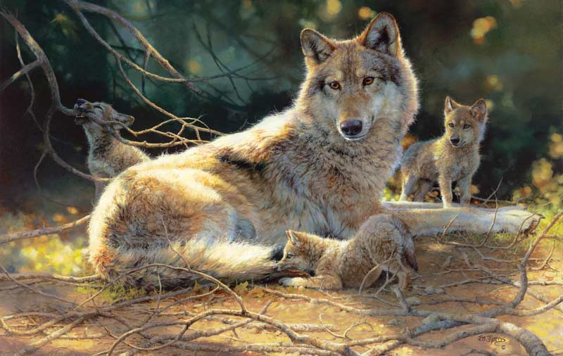 Grace Under Pressure Wolves Jigsaw Puzzle