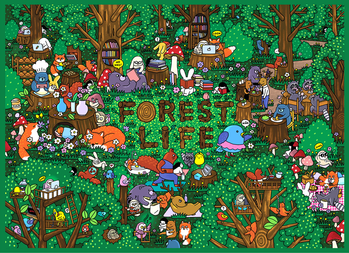 Forest Life Animals Jigsaw Puzzle