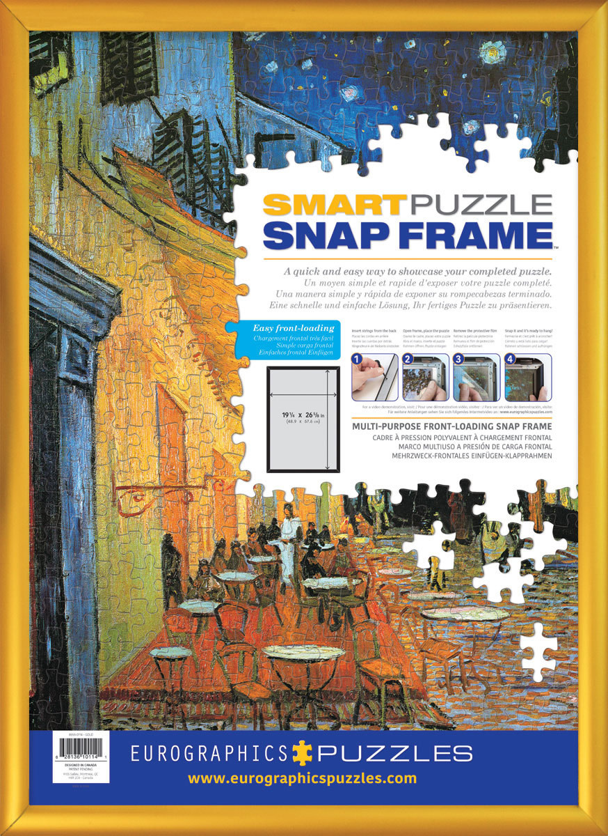 Snap Frame - Gold Aluminum Jigsaw Puzzle