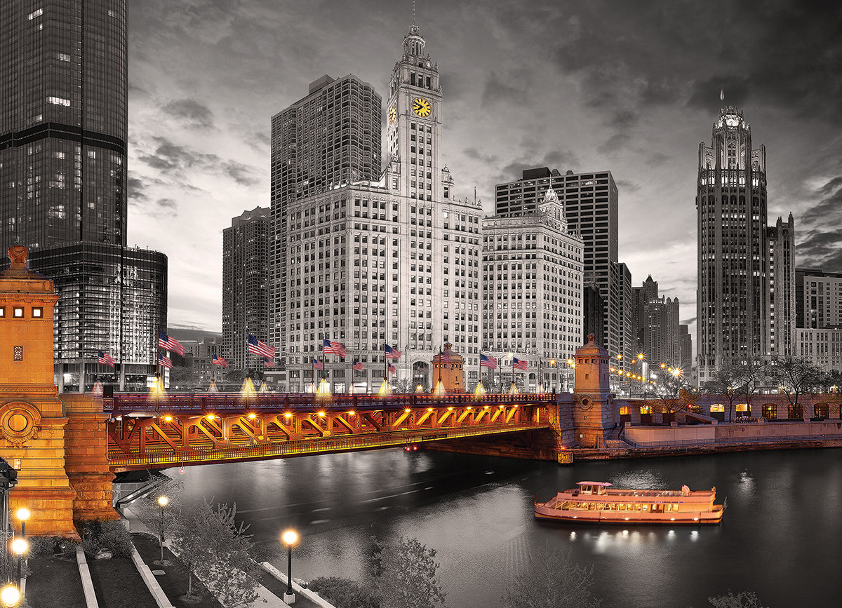 Chicago Michigan Avenue - Scratch and Dent Skyline / Cityscape Jigsaw Puzzle
