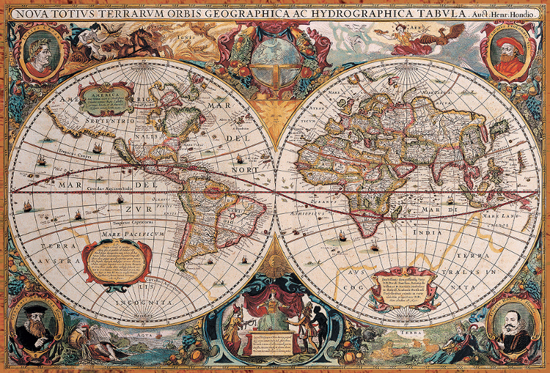 Antique world map jigsaw puzzle puzzlewarehouse antique world map maps geography jigsaw puzzle gumiabroncs Gallery