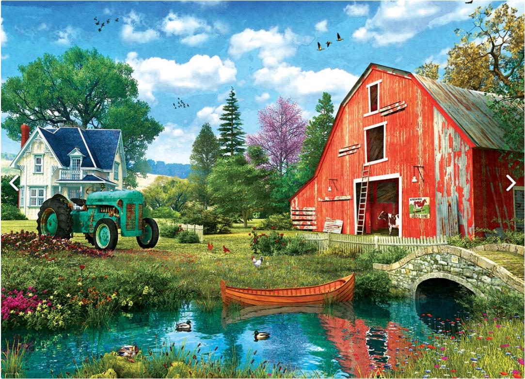The Red Barn by Dominic Davison Farm Jigsaw Puzzle