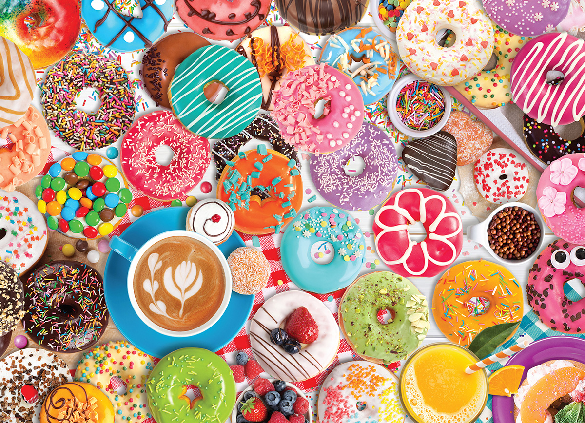 Donut Party Food and Drink Jigsaw Puzzle