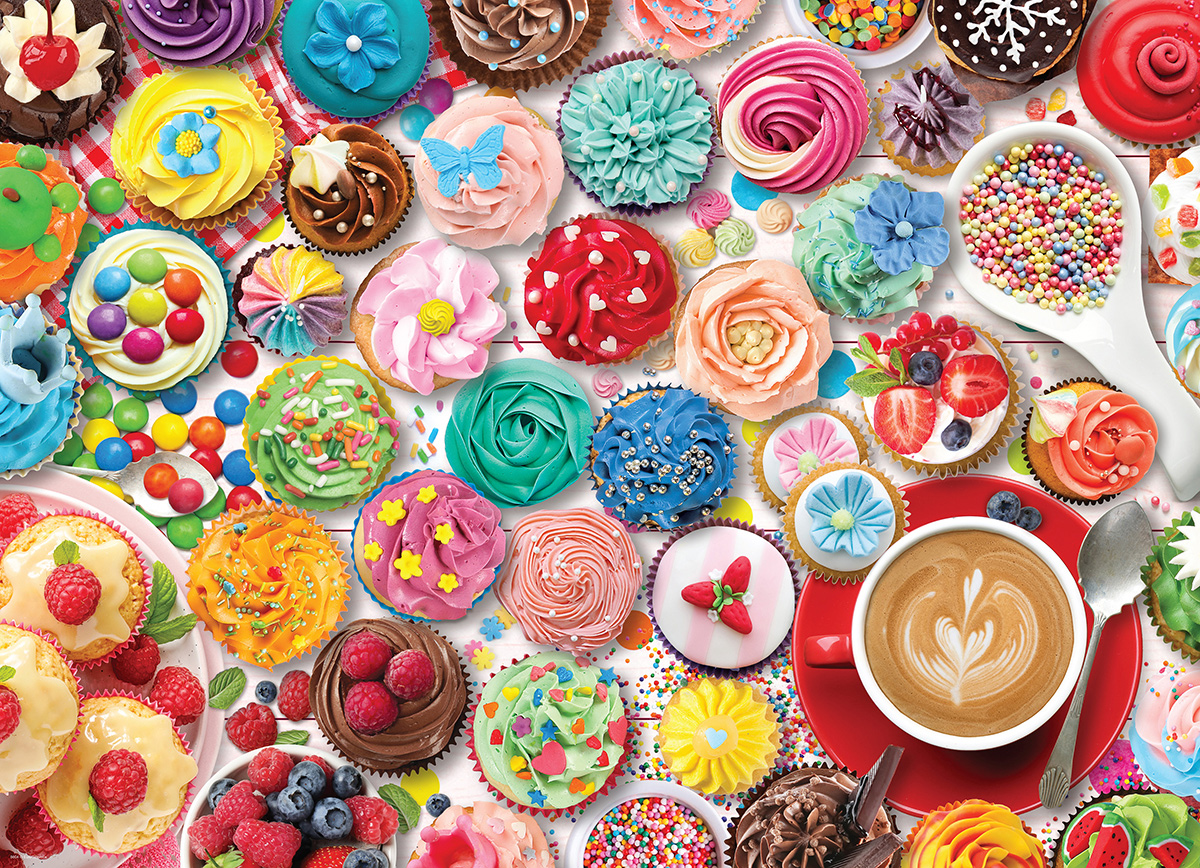 Cupcake Party - Tin Packaging Food and Drink Jigsaw Puzzle