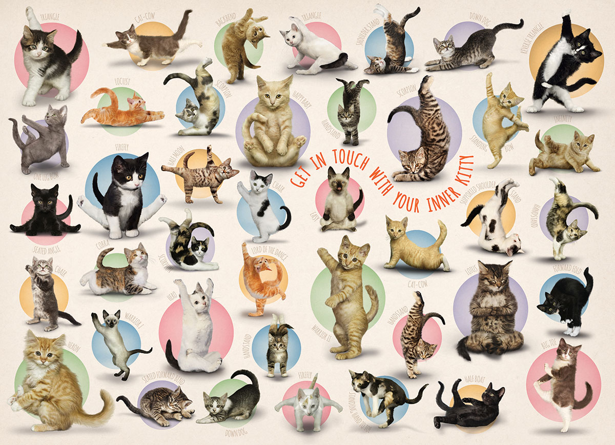 Yoga Kittens Cats Jigsaw Puzzle