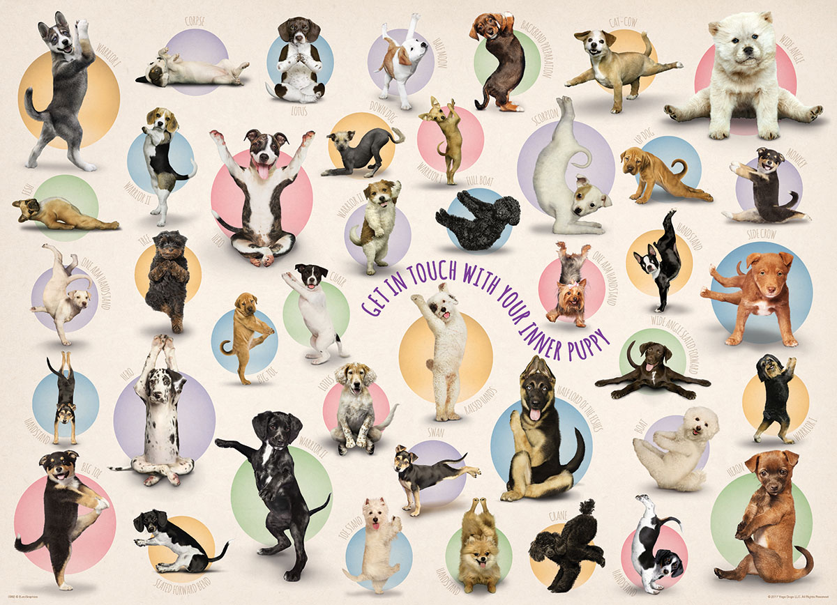 Yoga Puppies Dogs Jigsaw Puzzle